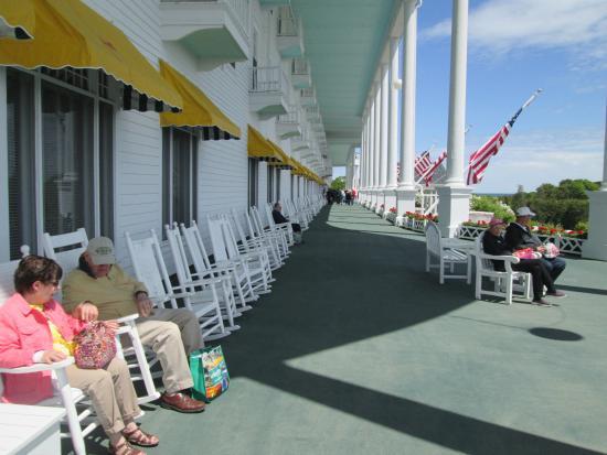 Photo Of The Longest Porch In World Grand Hotel Mackinac Island