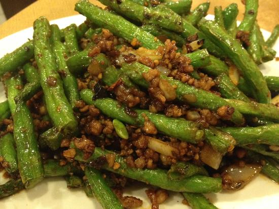 Kwong Chow Congee & Noodle House : Spicy green beans and minced meat