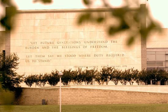 Inscription At George H W Bush Presidential Library Picture Of