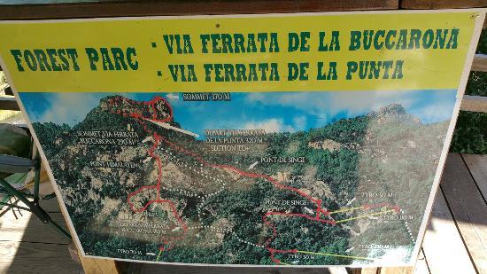 Sari-Solenzara, Frankrike: Via Ferrata de Buccarona