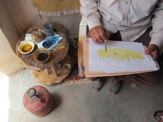 Merzouga, Marokko: Técnicas de pintura muy lindas