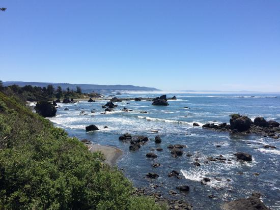 Various Views Along Pebble Beach Dr In Crescent City Ca