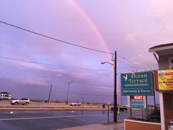 Seaside Best Rentals: Rainbow after short rain storm