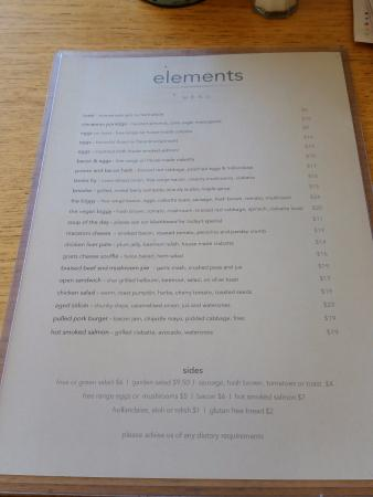 Elements: Menu 2