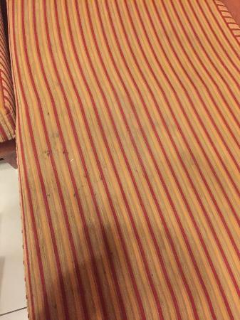 فندق وينشستر ديلوكس: The stained sofa