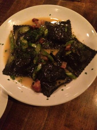 Flatiron Steakhouse: Squid ink lobster ravioli