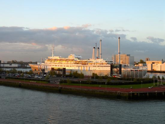 World Port Centre: MS Rotterdam from the Maas River
