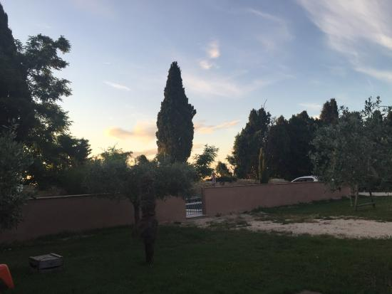 Mas Guiraud: Sonnenaufgang