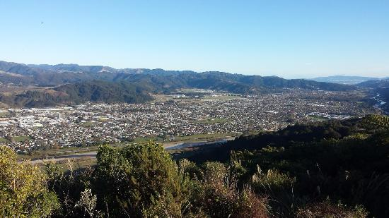 Upper Hutt from the Cannon Point Summit