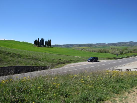 Tours Around Tuscany - Day Tours : The fabulous roadside stop with our car for the day!