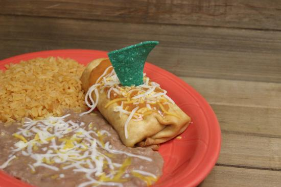 Taco Cancun Mexican Grill: Lunch Special Chicken Chimichanga
