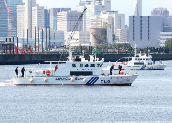 Shinkiba Park: 試験航海をおこなう巡視艇