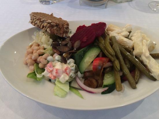 Arnoldstein, Austria: salad buffet plate