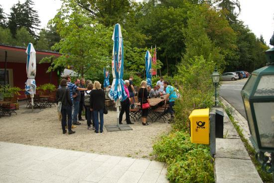 Berggasthof Waldlust: Der Biergarten des Bergasthof Waldlust