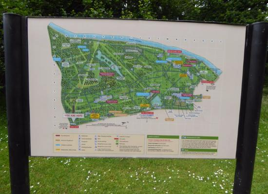 Royal Botanic Gardens, Kew: Map Of Royal Botanic Gardens Kew