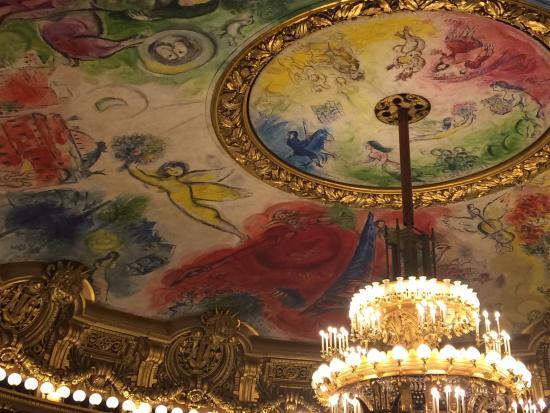 باريس, فرنسا: the auditorium ceiling painters by Marc Chagall