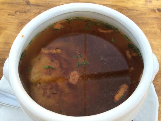 Larchenstadl Katschberg: soup with knödel