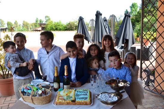 Agriturismo Il Casale: prima comunione di Vincenzo