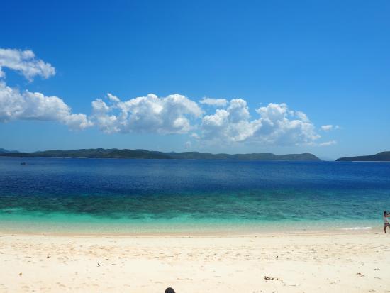 Busuanga Island, Filippine: Fantastisk strand. Vi var de eneste udover de lokale der var på øen.