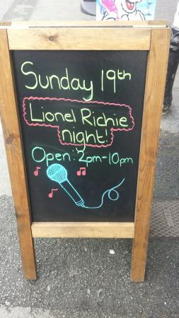 Gillie's Plaice: Open 2pm -10pm Sunday 19th for the up and coming Lionel Richie concert