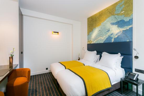 chambre twin - picture of hotel scarlett, paris - tripadvisor