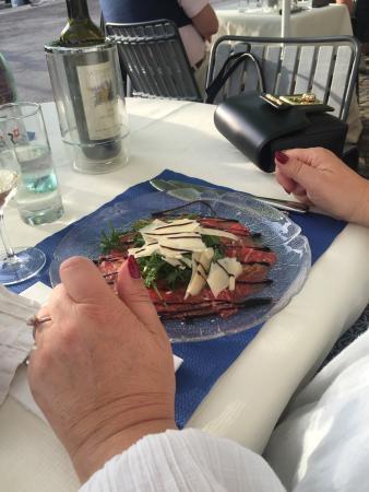 Restaurant Schutzenhaus: Carpazzio Vorspeise