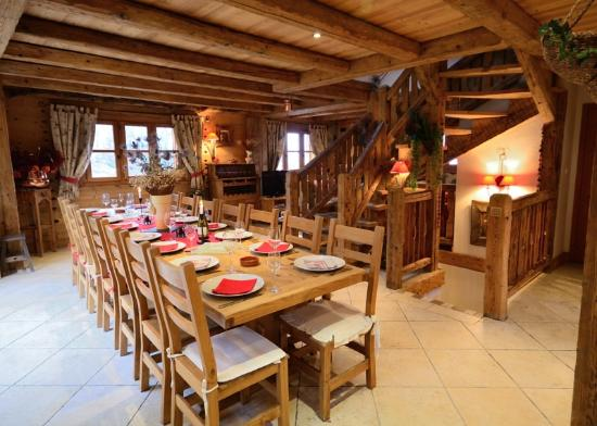 Dining area - Picture of Chalet Jardin d\'Angele, Courchevel ...