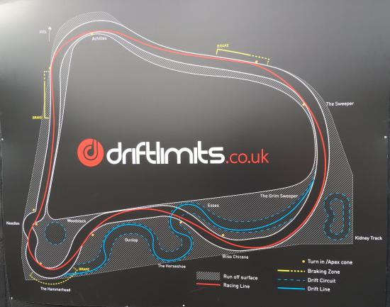 Map Of Uk Race Tracks.Map Of The Track Picture Of Drift Limits Hemel Hempstead