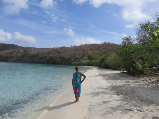 Cruz Bay, St. John: Right side of the beach to go snorkeling for turtles