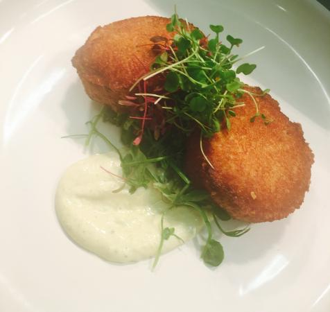 Egerton, UK: Duo of fish cakes