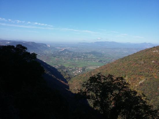 Vista do alto de Gorga