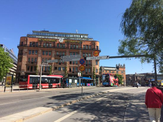 Sheraton Stockholm Hotel: Just across the street from the hotel, cross this bridge to go to old town Stockholm