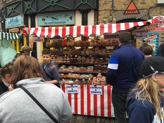 Camden Market: Donuts and cronuts...