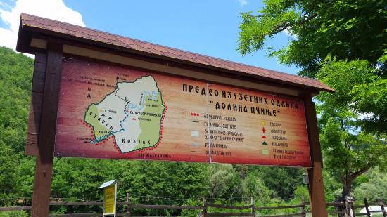 Prohor Pcinjski: map