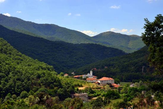 Prohor Pcinjski: Monastery from road