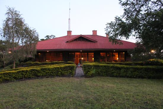 Ngurdoto Lodge: Bij valavond