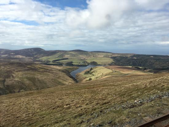 Onchan, UK: Sulby Reservoir from Snaefell Railway