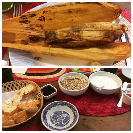 Chillout Flat Bed & Breakfast: Awesome tamales and yogurt for breakfast