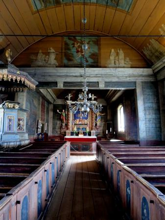 Lund, Sweden: The interior of the church, Kulturen.