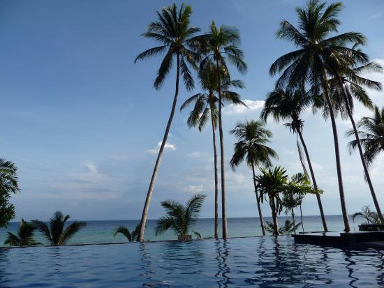 D'Coconut Lagoon : Uitzicht vanuit het zwembad (zout water)