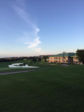 Irving, TX: View of the Villas on the side of the 18th green & fairway