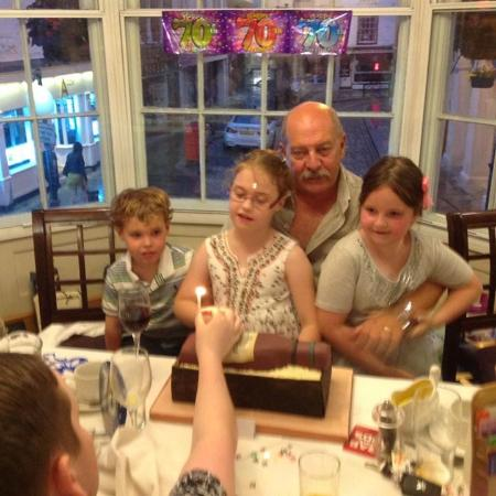 Salisbury Arms Hotel: Birthday boy with his three youngest grandchildren