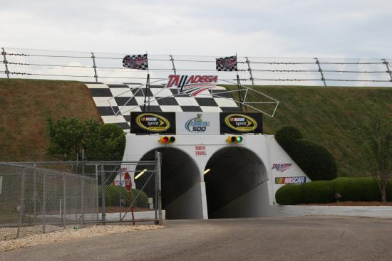 Talladega Superspeedway - Earth berm tunnel