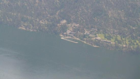 Lake Okanagan Resort: View from the air if you can afford one of the helicopter or plane tours
