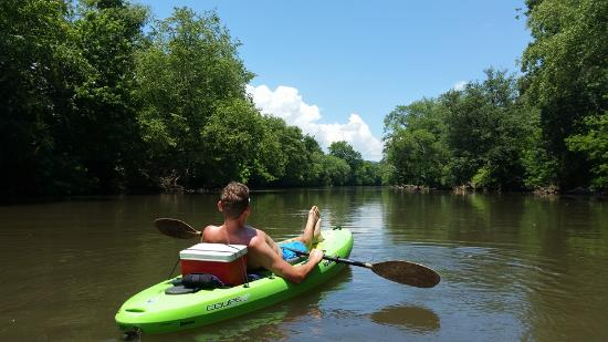 Horse Shoe, NC: Lazy paddle on the beautiful French Broad River