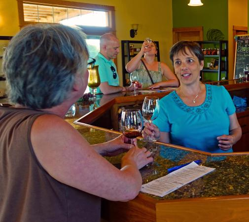Westby, WI: Sheri C. and Therese Bergholz at Branches Winery...