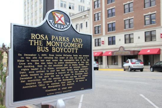 Rosa Parks Library and Museum - Sign outside the museum