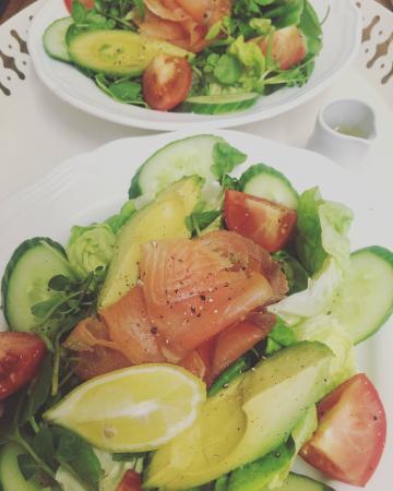 Fresh summer salads at Lottie's Fayre
