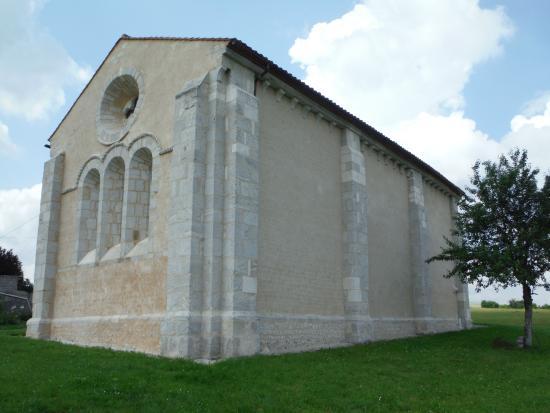 Cressac-Saint-Genis, France: External view of rear of chapel.