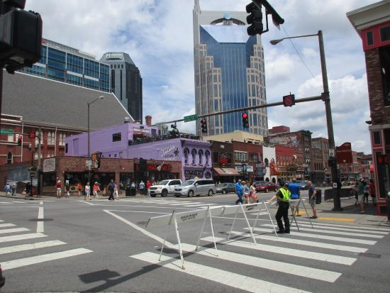 Downtown Nashville: The main road downtown